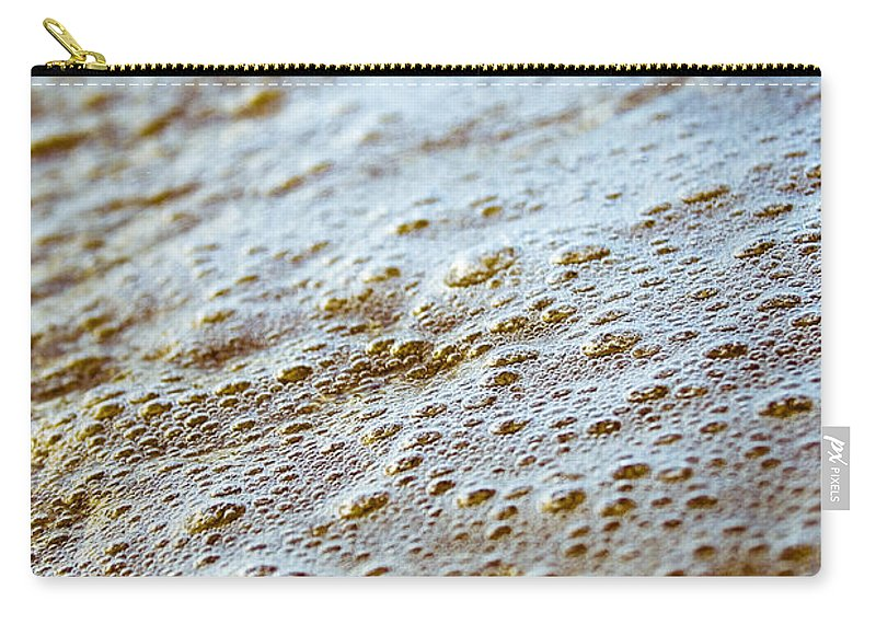 Maui Shore Bubbles Carry-all Pouch featuring the photograph Maui Shore Bubbles by Chris Brannen