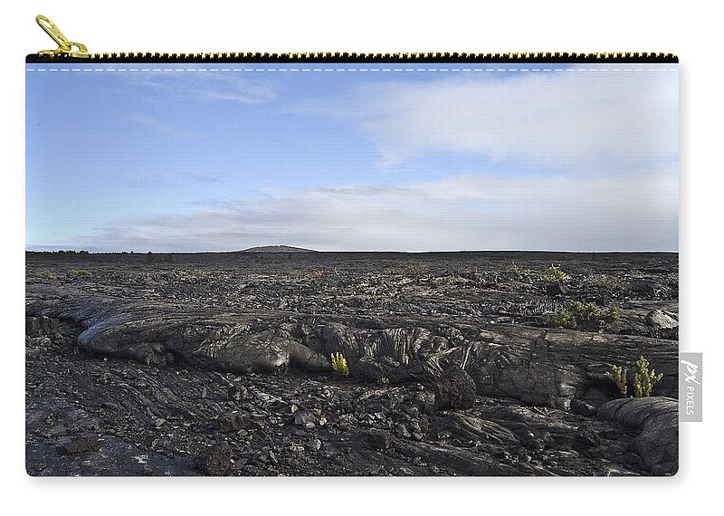 Mauna Loa Carry-all Pouch featuring the photograph Mauna Loa Lava by Robert Ponzoni