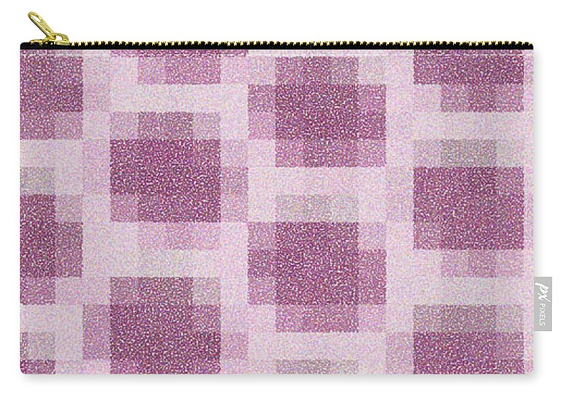 Mauve Carry-all Pouch featuring the photograph Mauve Plaid Pattern by K Joy Brown