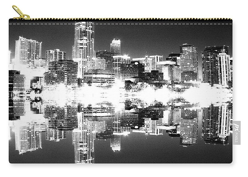 Cityscape Carry-all Pouch featuring the photograph Maxed Cityscape by Angus Hooper Iii