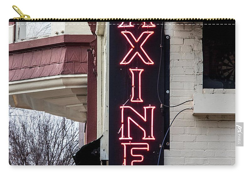 Advertising Carry-all Pouch featuring the photograph Maxine's Saloon by Robert Kinser