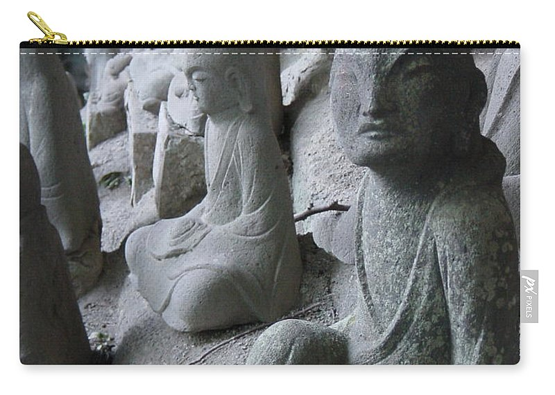 Statues Carry-all Pouch featuring the photograph May I Help You by D Turner