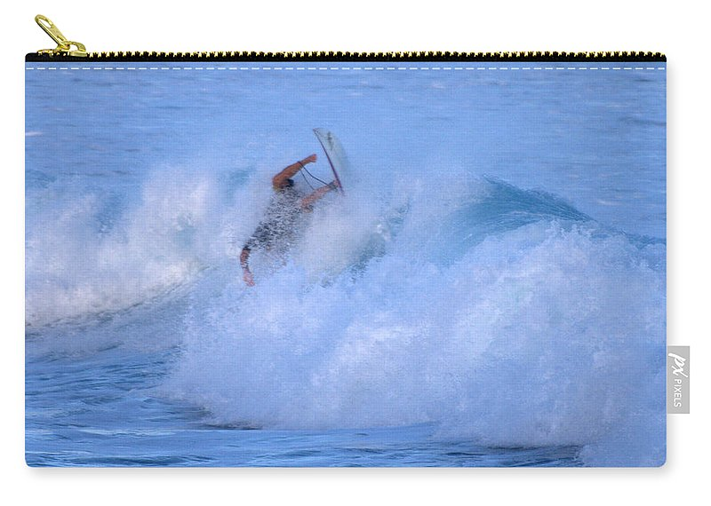 Surfing Carry-all Pouch featuring the photograph May Tagged by Thomas Sexton