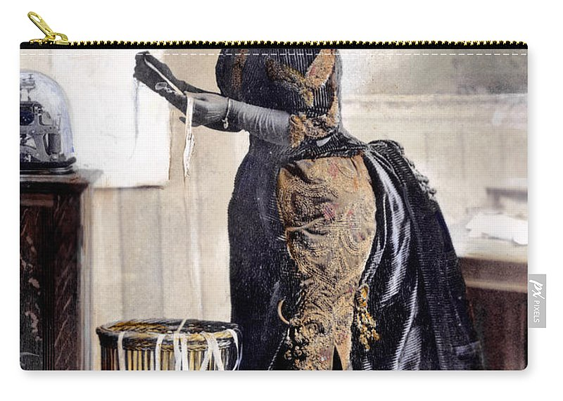 1890 Carry-all Pouch featuring the photograph May Waldron by Granger