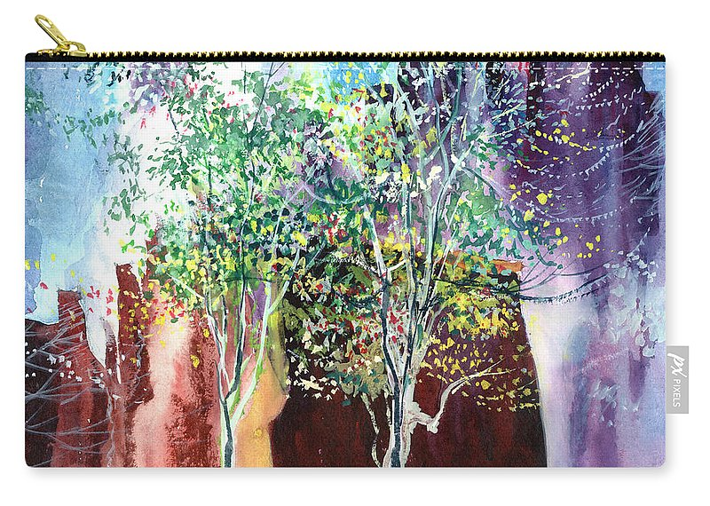 Nature Carry-all Pouch featuring the painting Maya by Anil Nene