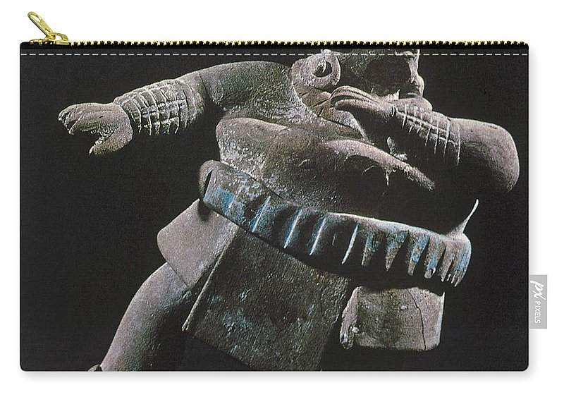 8th Century Carry-all Pouch featuring the photograph Mayan Athlete, 700-900 A.d by Granger