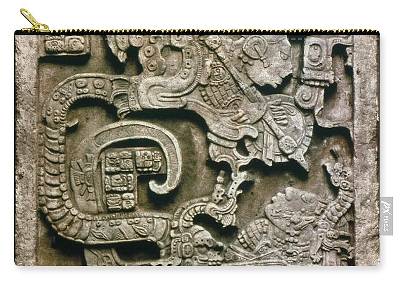 681 Carry-all Pouch featuring the photograph Mayan Glyph by Granger
