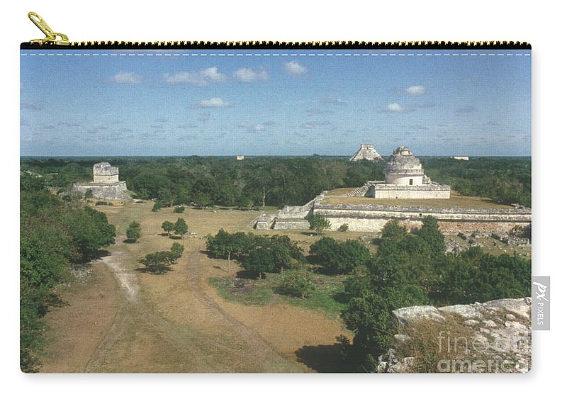 Ancient Carry-all Pouch featuring the photograph Mayan Observatory, Mexico by Granger
