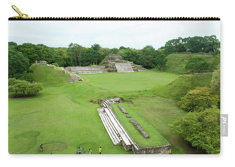 Archaeology Carry-all Pouch featuring the photograph Mayan World by Ramunas Bruzas