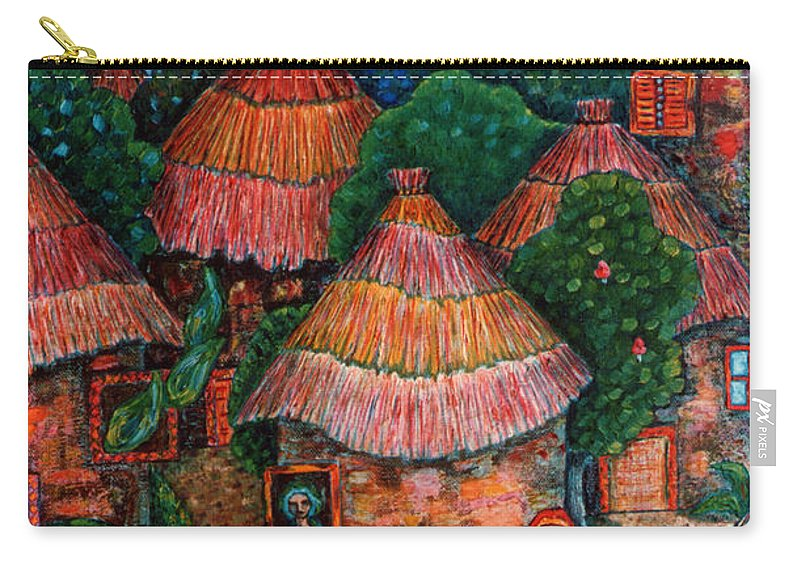 Africa Carry-all Pouch featuring the painting Maybe That Was My Country by Madalena Lobao-Tello