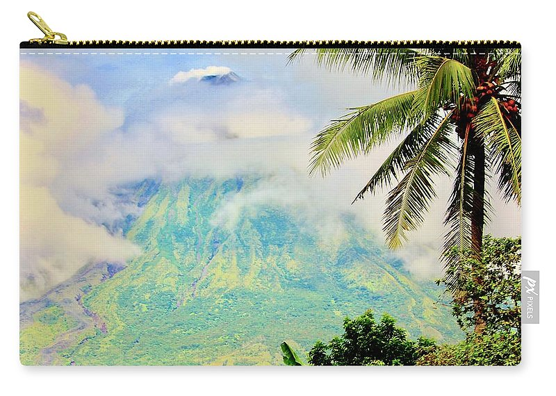 Nature Carry-all Pouch featuring the photograph Mayon Volcano by Lorna Maza