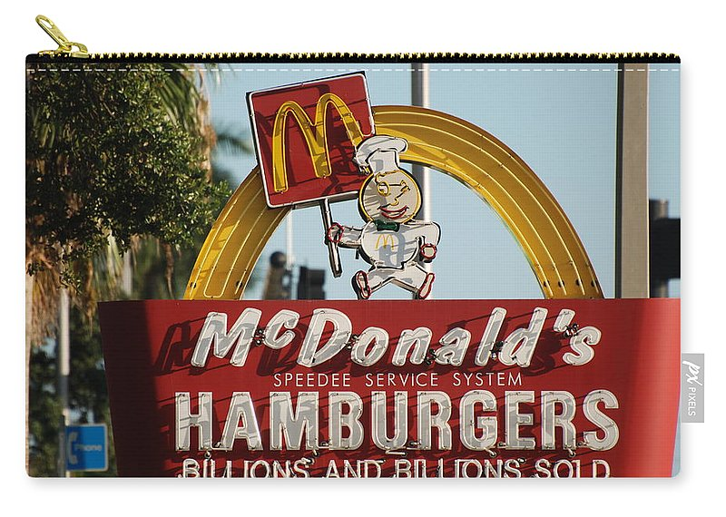 Mcdonalds Carry-all Pouch featuring the photograph Mc Donalds by Rob Hans