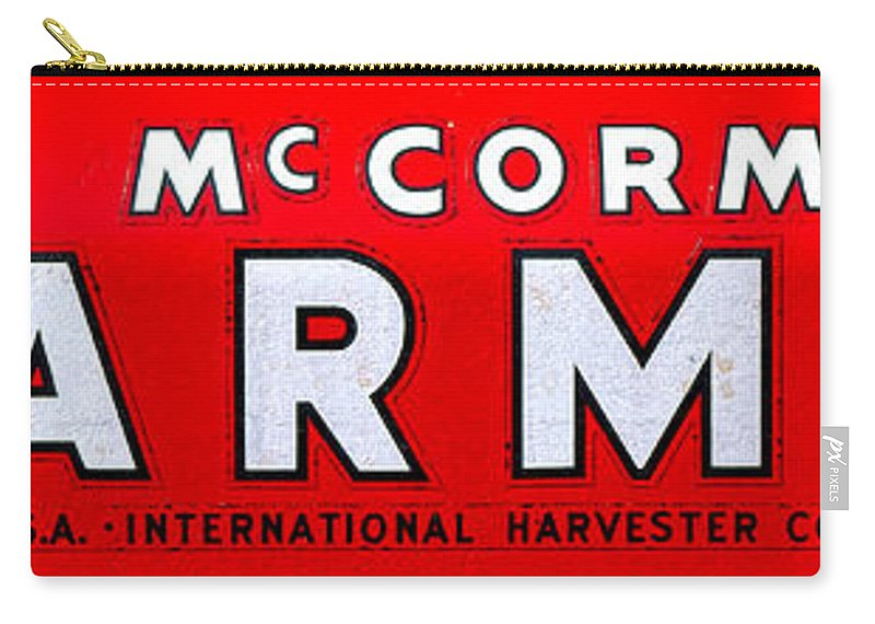 Mccormick Carry-all Pouch featuring the photograph Mccormick Farmall By International Harvester by Olivier Le Queinec