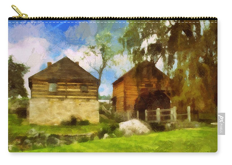 Mccormick Carry-all Pouch featuring the photograph Mccormick Mill by Paulette B Wright