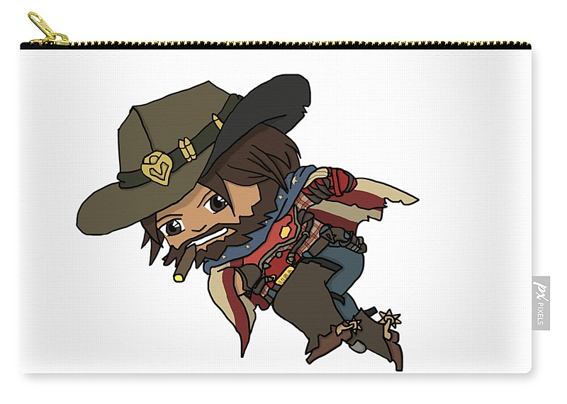 Mccree Carry-all Pouch featuring the digital art Mccree Usa by Tonisha Price