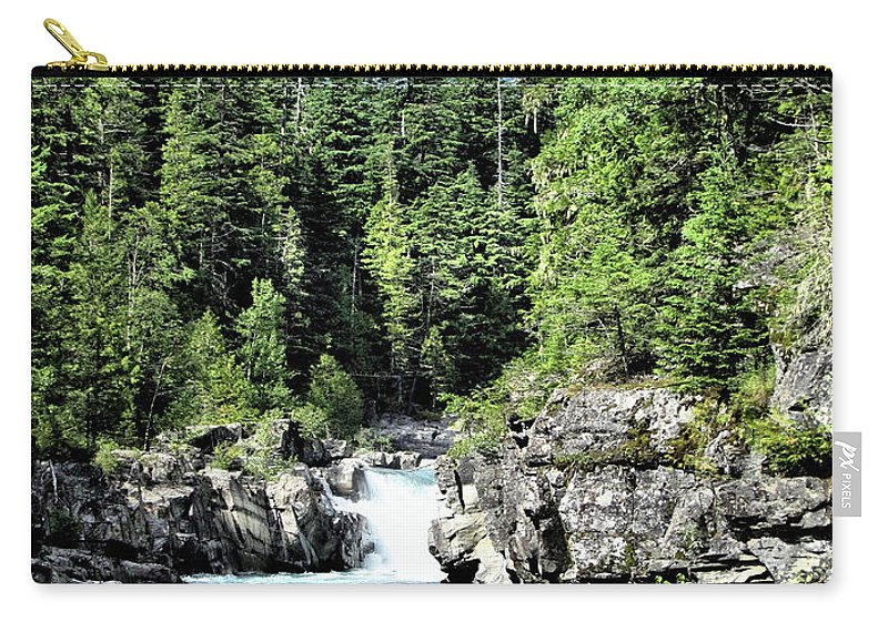 Water Carry-all Pouch featuring the photograph Mcdonald Creek 1 by John Trommer