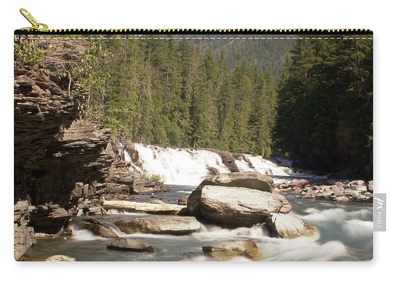 Stream Carry-all Pouch featuring the photograph Mcdonald Creek by Marty Koch
