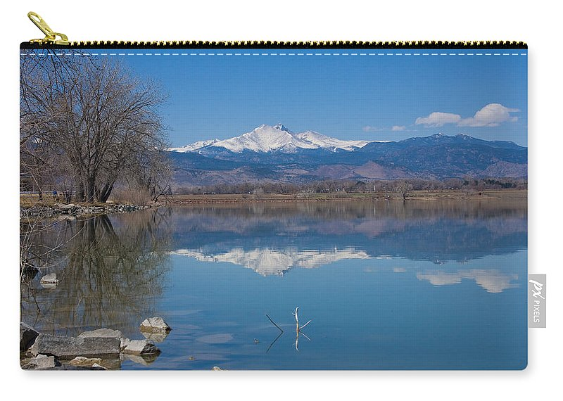 Lake Carry-all Pouch featuring the photograph Mcintosh Lake Reflections by James BO Insogna