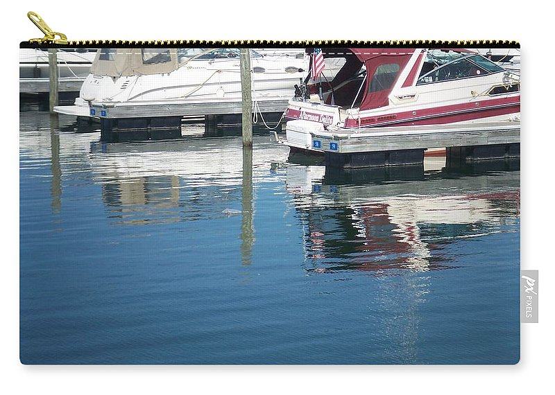 Mckinley Marina Carry-all Pouch featuring the photograph Mckinley Marina 1 by Anita Burgermeister