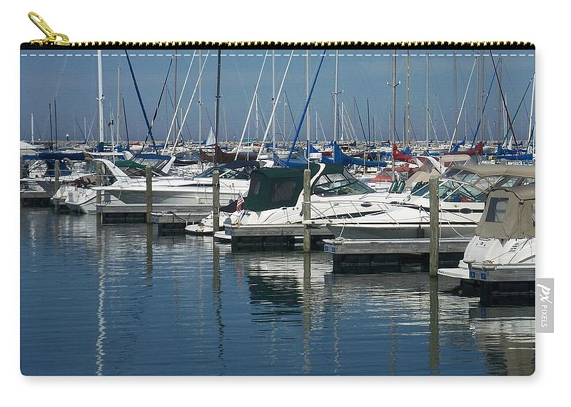 Mckinley Marina Carry-all Pouch featuring the photograph Mckinley Marina 2 by Anita Burgermeister