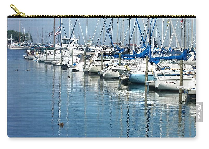Mckinley Marina Carry-all Pouch featuring the photograph Mckinley Marina 3 by Anita Burgermeister