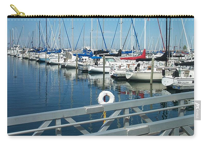 Mckinley Marina Carry-all Pouch featuring the photograph Mckinley Marina 4 by Anita Burgermeister