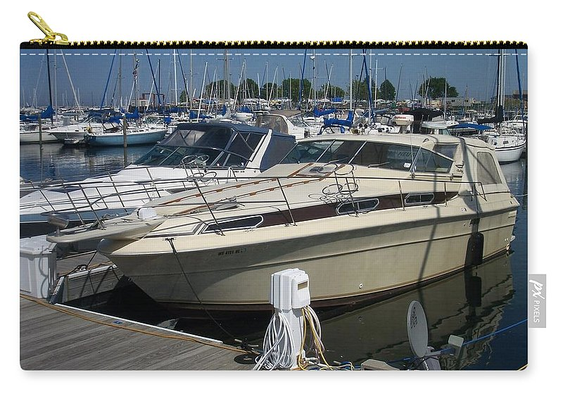 Mckinley Marina Carry-all Pouch featuring the photograph Mckinley Marina 7 by Anita Burgermeister