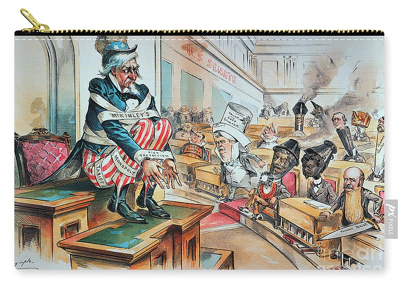1894 Carry-all Pouch featuring the photograph Mckinley Tariff Act, 1894 by Granger