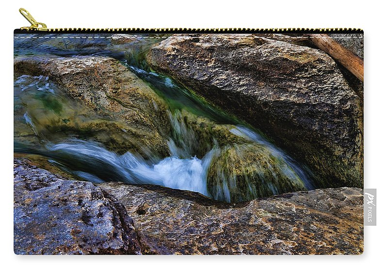 Waterfall Carry-all Pouch featuring the photograph Mckinney Falls State Park-lower Falls 4 by Judy Vincent