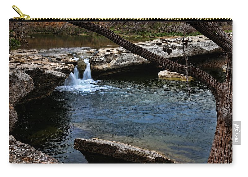 Austin Carry-all Pouch featuring the photograph Mckinney Falls State Park-upper Falls 6 by Judy Vincent