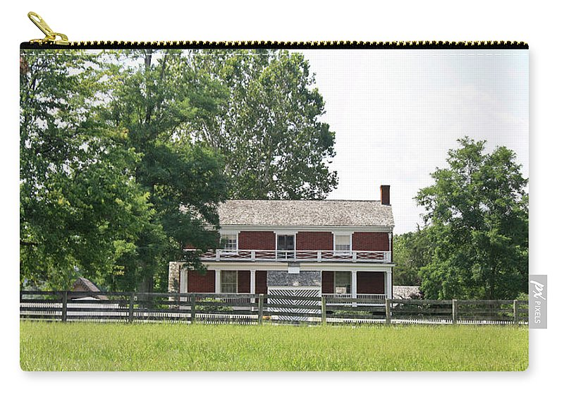 Appomattox Carry-all Pouch featuring the photograph Mclean House Appomattox Court House Virginia by Teresa Mucha