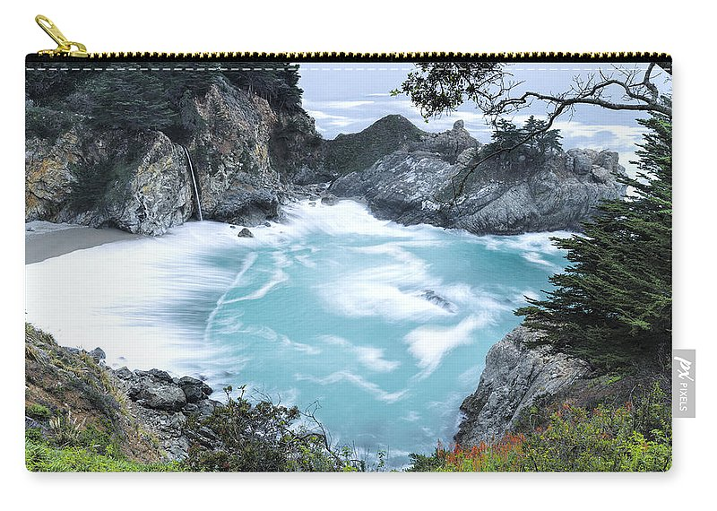 Mcway Falls Carry-all Pouch featuring the photograph Mcway Falls by Mike Herdering