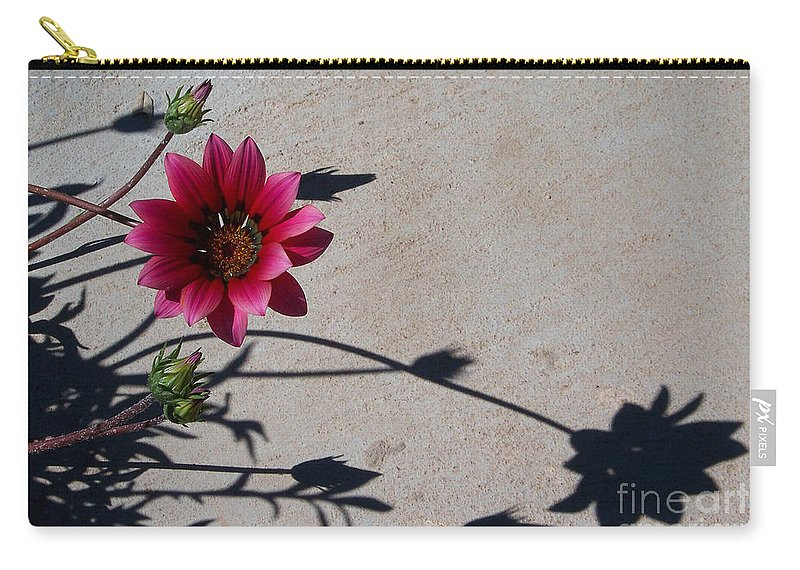 Flowers Carry-all Pouch featuring the photograph Me And My Shadow by Kathy McClure