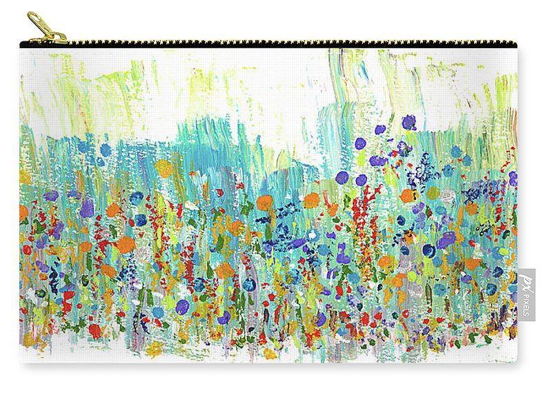 Painting Carry-all Pouch featuring the painting Meadow by Bjorn Sjogren