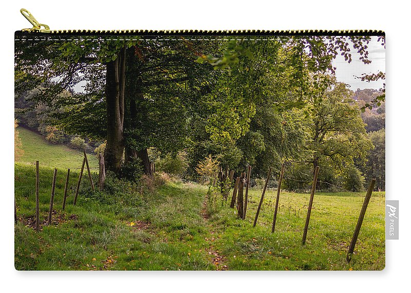 Autumn Carry-all Pouch featuring the photograph Meadow Grass Path by Pati Photography