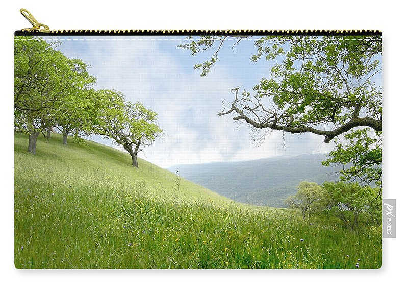 Landscape Carry-all Pouch featuring the photograph Meadow View Spring by Karen W Meyer
