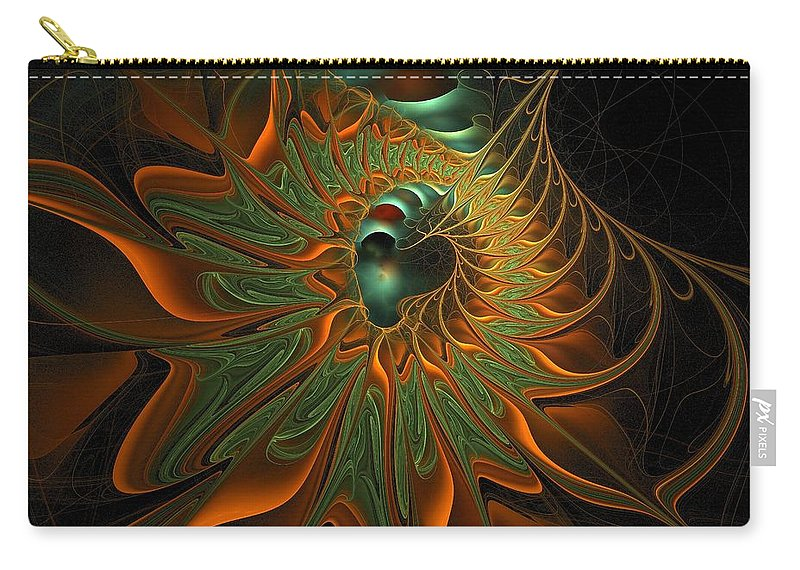 Digital Art Carry-all Pouch featuring the digital art Meandering by Amanda Moore