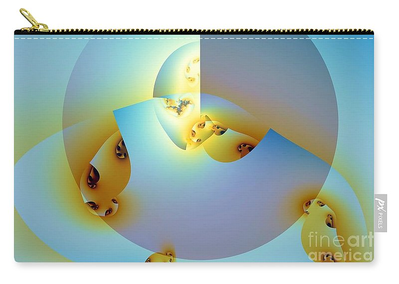 Shell Carry-all Pouch featuring the digital art Meanwhile Outside The Expression by Ron Bissett