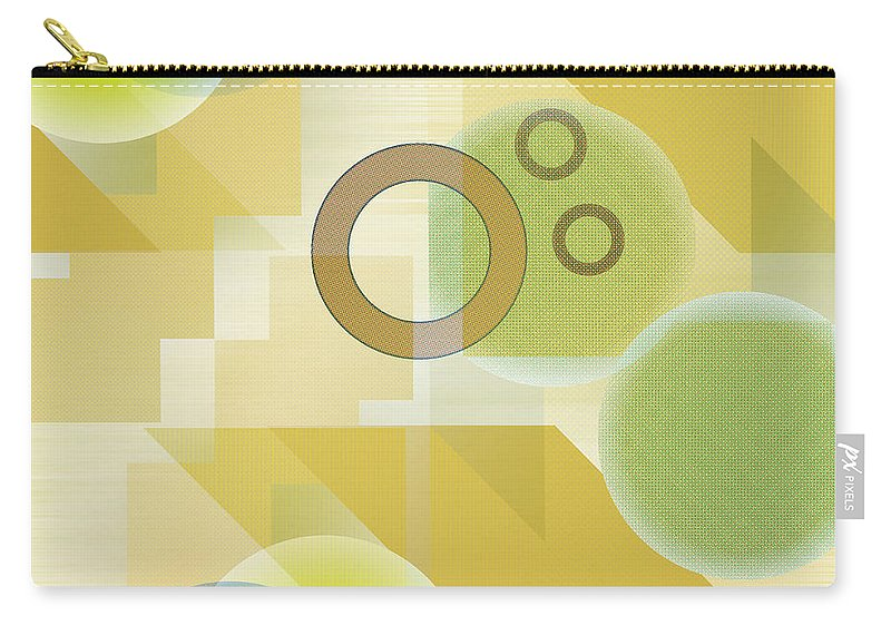 Digital Carry-all Pouch featuring the digital art Measurable Mingle by Ruth Palmer