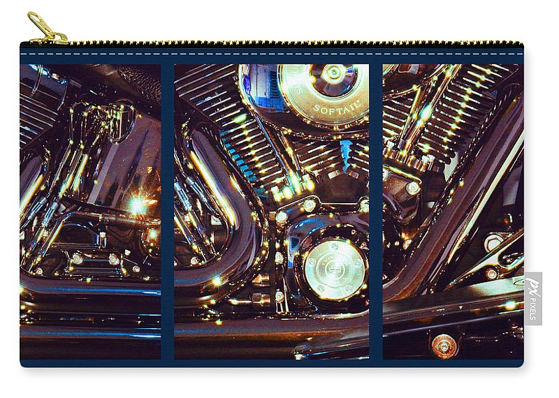 Harley Davidson Carry-all Pouch featuring the photograph Mechanism by Steve Karol