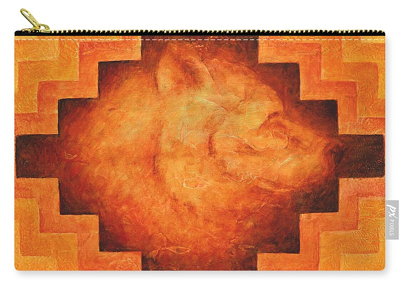 Native American Carry-all Pouch featuring the painting Medicine Bear by Kevin Chasing Wolf Hutchins