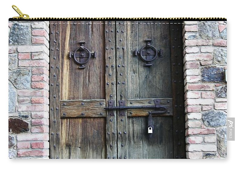 Door Carry-all Pouch featuring the photograph Medieval Door by Carol Groenen