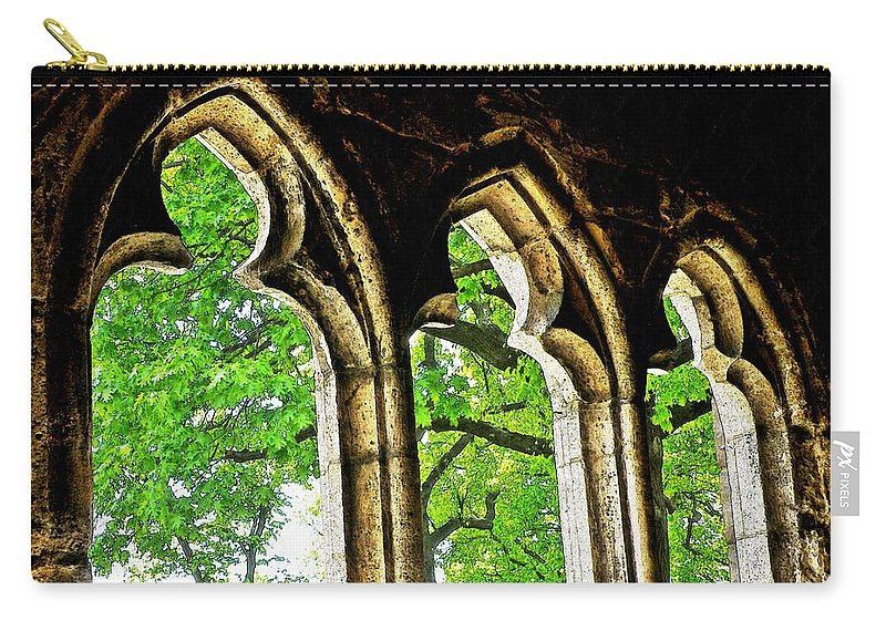 Tree Carry-all Pouch featuring the photograph Medieval Triptych by Sarah Loft