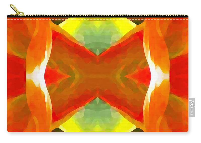 Abstract Carry-all Pouch featuring the painting Meditation by Amy Vangsgard