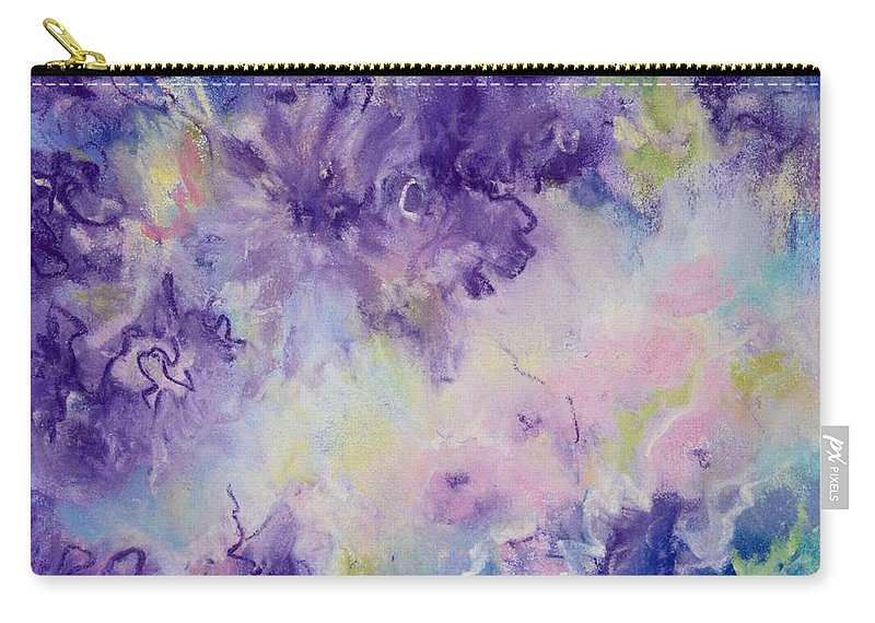Abstrac Carry-all Pouch featuring the pastel Meditation by Johane Gareau