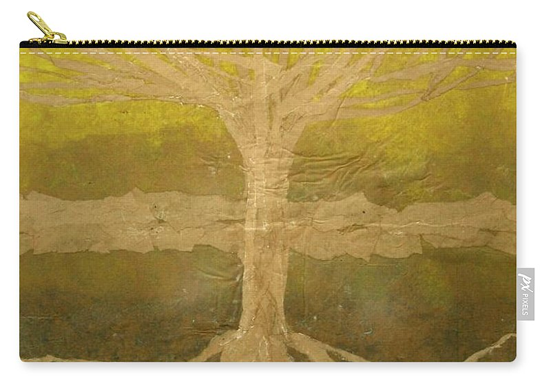 Abstract Carry-all Pouch featuring the painting Meditation by Leah Tomaino