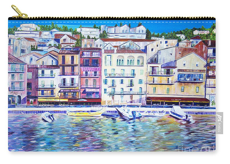 France Carry-all Pouch featuring the painting Mediterranean Morning by JoAnn DePolo