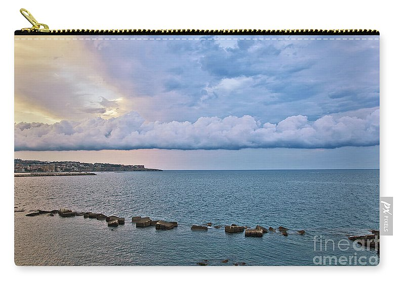 Sea Carry-all Pouch featuring the photograph Mediterranean View II by Madeline Ellis