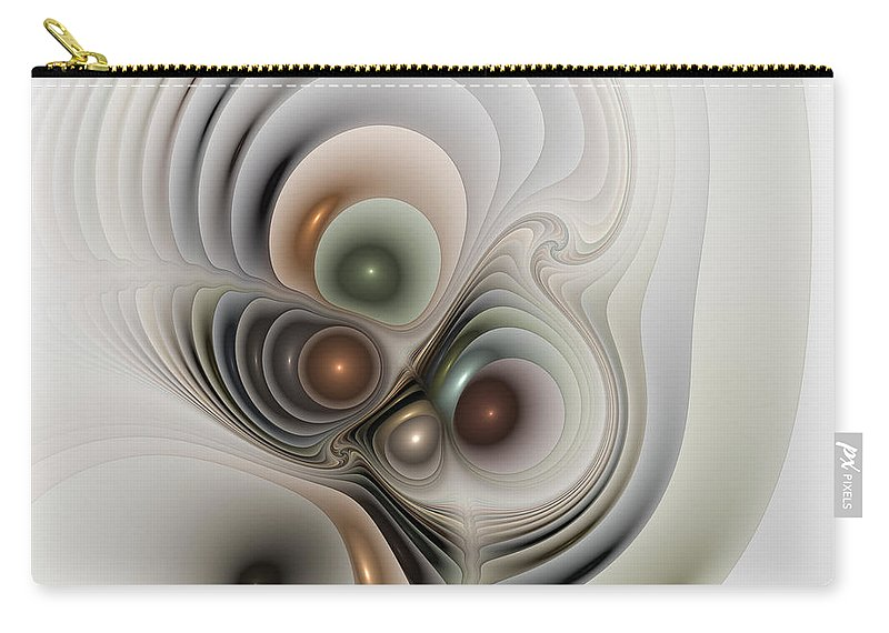 Abstract Carry-all Pouch featuring the digital art Medulla by Casey Kotas