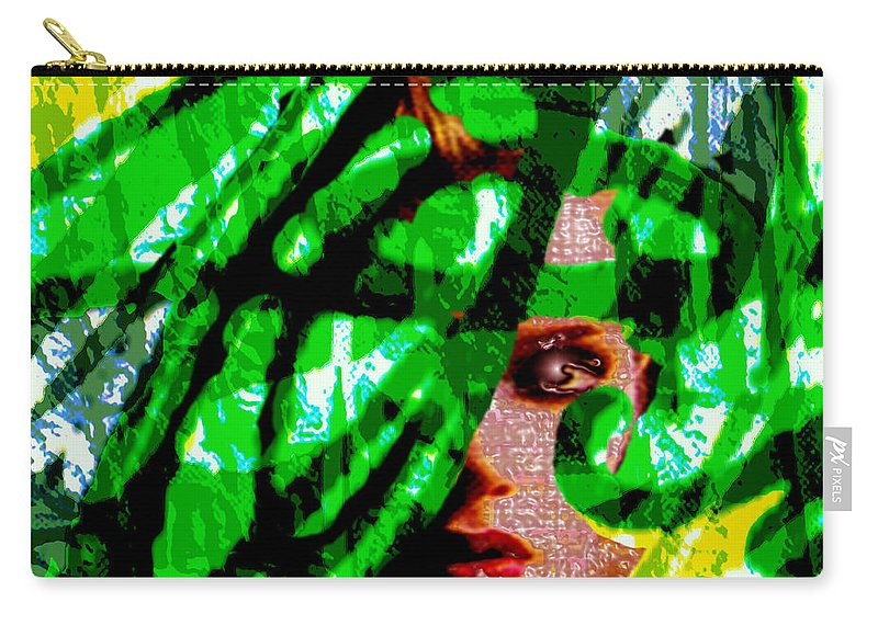 Abstract Carry-all Pouch featuring the digital art Medusa 1-26 by Seth Weaver